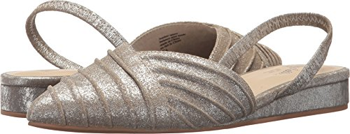 Metallic Silver Slingback - Seychelles Women's Highly Touted Silver Metallic Suede 8.5 M US
