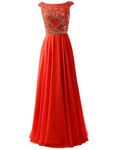 De te Bal Du F Mousseline Robes De En Longue Formelle Femmes Rouge Soie Cdress Soir De Perles De Robes Maxi TqZw8azW