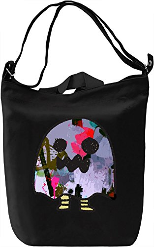 Little Ghost Borsa Giornaliera Canvas Canvas Day Bag| 100% Premium Cotton Canvas| DTG Printing|
