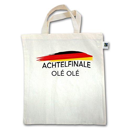 Fußball-Weltmeisterschaft 2018 - Deutschland Achtelfinale Olé Olé - Unisize - Natural - XT500 - Jutebeutel kurzer Henkel