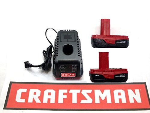 Craftsman C3 19.2 Volt Lithium-Ion Battery Charger 5336 + (2) 5166 Batteries by Craftsman