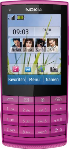 Nokia X3-02 Pink WiFi Touchscreen Unlocked QuadBand 3G Cell Phone