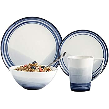 Amazon.com | Brilliant 32 Piece Dinnerware Set, Signature ...