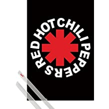 Poster + Hanger: Red Hot Chili Peppers Poster (36x24 inches) Logo And 1 Set Of Transparent 1art1® Poster Hangers