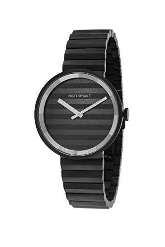 ISSEY MIYAKE Unisex SILAAA06 Please Analog Display Quartz Black Watch