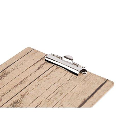 Holz Effekt A5/Menu Pr/äsentation Klemmbrett 240/x 160/mm K/üche Esszimmer Geschirr