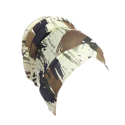 (Palalibin Fashion hat,Women Islamic Muslim Hijab Turban Hat Headwrap Scarf Cover Chemo Cap Newly(Free,Army Green))