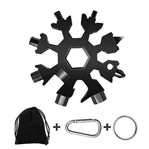 18-in-1 Snow Multi-Tool, Easy N GeniusStainless Steel SnowflakeScrewdriver Multi-ToolGreat Christmas Gift