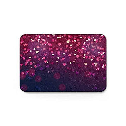 (YGUII Indoor Doormat Charming Hearts Valentine's Day Door Mats Shoes Scraper Dirt Debris Mud Trapper Patio Rugs Low Profile Washable Carpet 16X23.6in (40x60cm))