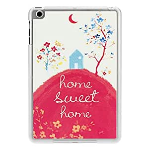 hao Sweet Home Pattern PC Hard Case with Transparent Frame for iPad mini