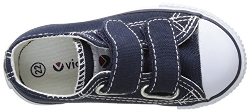 victoria Baby Jungen Zapato Basket Velcros Krabbelschuhe Blau (Marino)