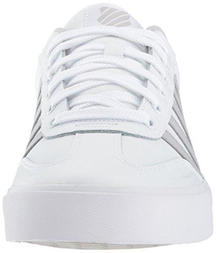 K-Swiss Herren Addison Vulc Leder Sneaker Weiß / Möwe Grau