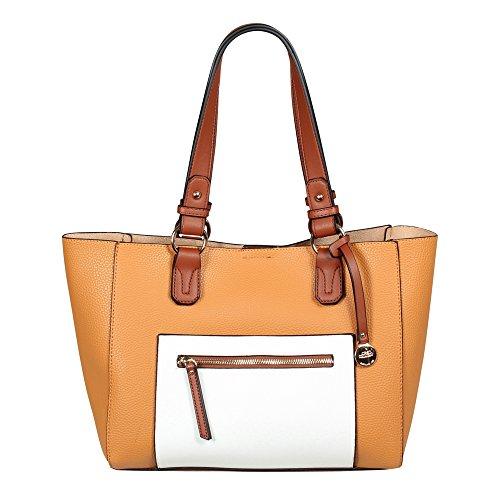 L. CREDI Bolso para mujer Anna Mustard marrón anaranjado