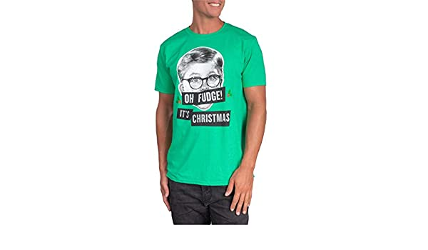New A Christmas Story Oh Fudge Green Mens Vintage T-Shirt