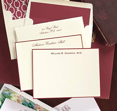 Wine Hand Bordered Correspondence Cards - Set of 25-3640