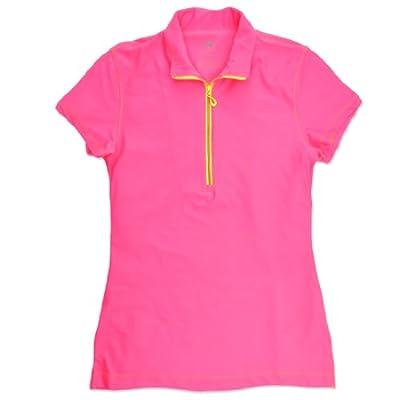 Birdseed Golfwear® Big Girl's Solid Short Sleeve Golf Polo Shirt