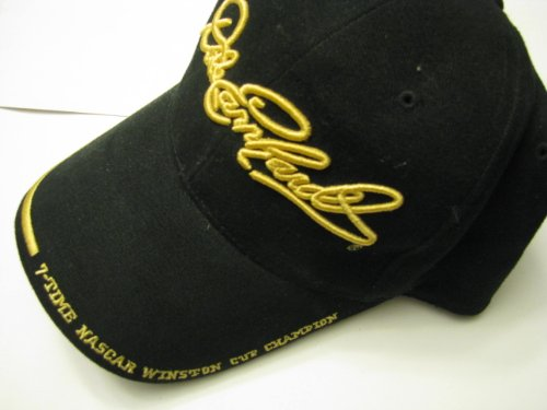 Dale Earnhardt Sr #3 7 Time Champion The Intimidator Black with Yellow Highlights Embroidery Hat Cap One Size Fits Most OSFM Chase Authentics ()