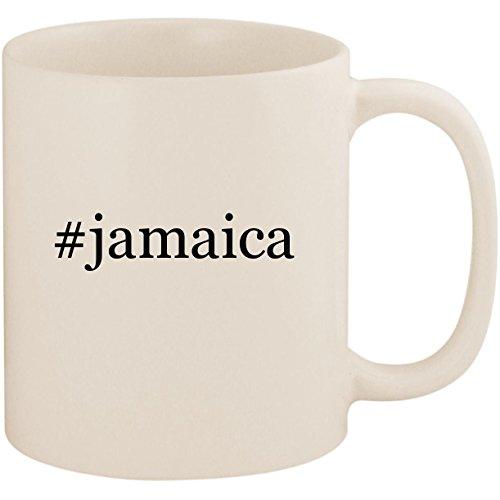 #jamaica - 11oz Ceramic Coffee Mug Cup, White