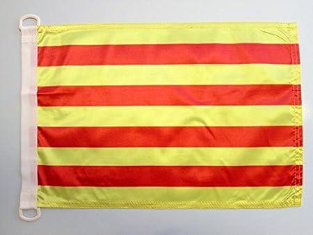 AZ FLAG Bandera Nautica de CATALUÑA 45x30cm - Pabellón de conveniencia CATALANA - Catalunya 30 x 45 cm Anillos: Amazon.es: Hogar