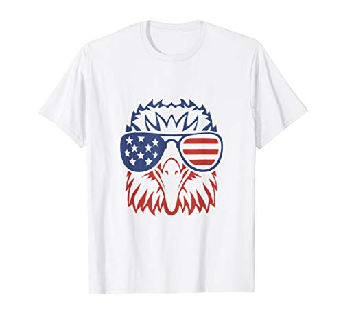 4th of July USA American Flag Tshirt Patriotic Eagle T-Shirt