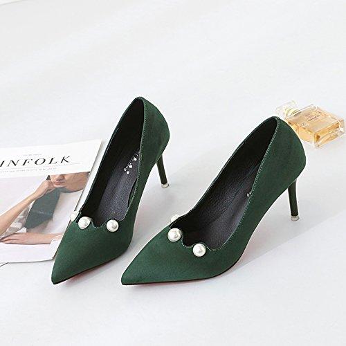 raccontare sottolineato Matt bella scarpe verde nero wild alti in solo con scarpe scarpe i la donna per 38 tacchi ha ragazza 55qfwrB7x