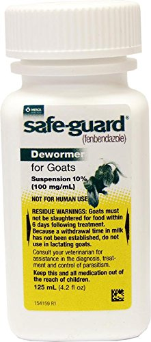 41KPygmSmLL - Merck Safeguard Goat Dewormer, 125ml