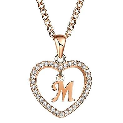 63b5f49d219a9 Buy Albetro Romantic Rose Gold Color Cubic Zirconia Love Heart ...
