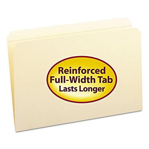 Smead File Folder, Reinforced Straight-Cut Tab, Legal Size, Manila, 100 Per Box (15310)