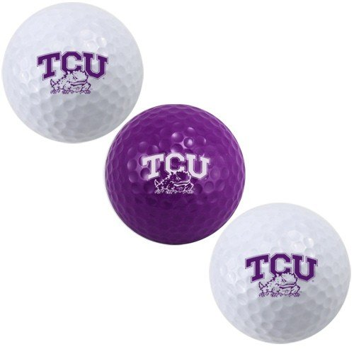 (Team Golf NCAA TCU Horned Frogs Regulation Size Golf Balls, 3 Pack, Full Color Durable Team)