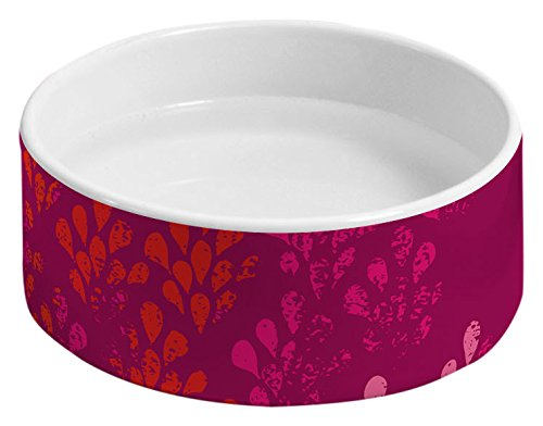 Solstice Feeder (Deny Designs Solstice Stylish Pet Food Bowl with Matching Tray)