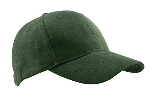 MIERSPORTS Cotton Baseball Cap Adjustable Hat For Men and Women, Myrtle Green