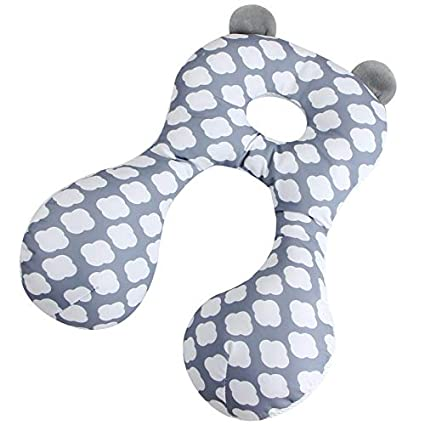 AIPINQI Head and Body Support Pillow with Neck Support for Baby Car Seat and Strollers Pineapple.