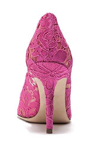 Scarpe Tacchi di col del da sexy nozze Scarpe sposa alti Magnifico Rosa Tacchi Tacco merletto uBeauty HUq7a