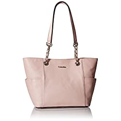 Calvin Klein Pebble Leather Chain Tote