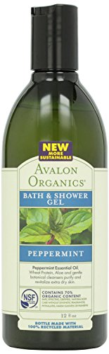 Avalon Organics Refreshing Bath & Shower Gel, Peppermint, 12 oz, 2 pk