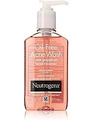 Neutrogena Oil-Free Acne Wash Face Cleanser, Pink Grapefruit 6 oz (8 Pack)