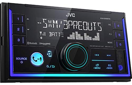 JVC KW-V25BT 6.2 Touchscreen Double DIN in-Dash Bluetooth CD/DVD AM/FM Digital Media, Front and Rear USB Input, Pandora, Spotify and iHeartRadio Control Car Stereo Receiver/Free ALPHASONIK Earbuds