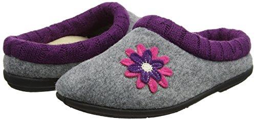 Pantofole Donna grey Grigio Freesia 97 Padders Combi H1nq5xwZ