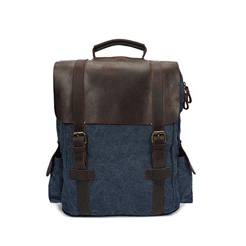 BAGEHUA キャンバス旅行バックパック、中立型のバックパックには、耐久性に優れたファッションラップトップバックパック(長さ 40 センチ、幅 11 センチ、高さ 40 cm ) B076KRQ8DZ 15 inches blue 15 inches blue
