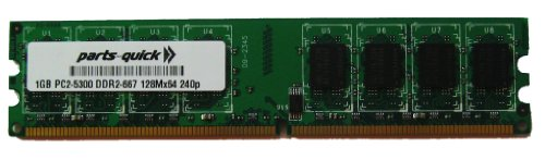 - 1GB DDR2 Memory Upgrade for AOPEN Motherboard NON-ECC PC2-5300 240 pin 667MHz DIMM RAM (PARTS-QUICK BRAND)