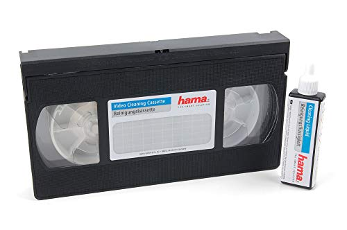 DURAGADGET Non-Abrasive VHS/S - VHS Video Head Cleaning Tape with Bonus Cleaning Fluid