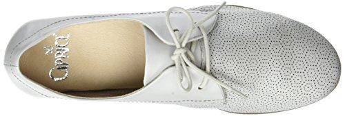 Cordones Caprice Oxford Gris Nappa Lt de Grey para Zapatos Mujer 23502 11qrWwFtZA