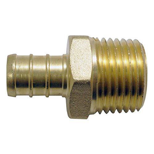 (LTWFITTING 1/2 PEX x 1/2 Male NPT Adapter, Brass Crimp PEX Fitting(Pack of)