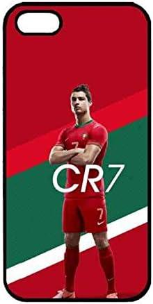 CR7 Coque iPhone 5/5S/SE,Cristiano Ronaldo Coque Pour Téléphone Portable iPhone 5/5S/SE Coque Silicone iPhone 5/5S/SE