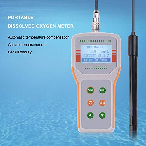 Portable Dissolved Oxygen Meter for Fish Shrimp Farming Water Quality Monitor Do Meter ATC Range (0.0-20.0) mg/L