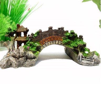 Karen Low Chinese Style Arch Bridge Aquarium Resin Fish Tank Decorations Ornament Medium by Karen Low