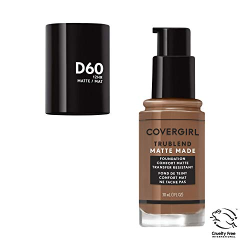Covergirl Trublend Matte Made Liquid Foundation, D60 Toasted Almond, 1.014 Ounce