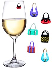 Magnetic Wine Charms Set of 6 Colorful Purses