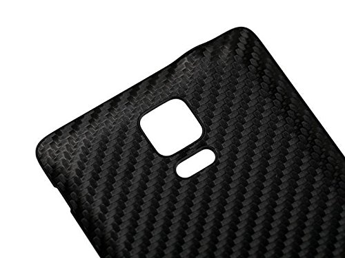 Carbon Fiber Battery Cover Door Back Housing Replacement for Samsung Galaxy Note 4-Black