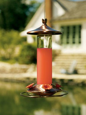 Birdscapes 710B 12 Oz Brown Copper Hummingbird Feeder by Perky-Pet
